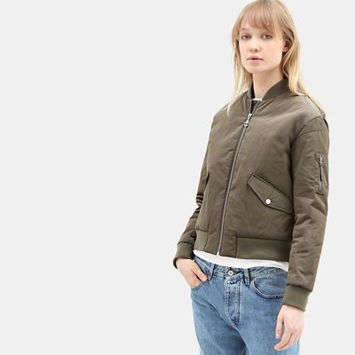 Hix+Mountain+Bomber+Jacket+for+Women+in+Green