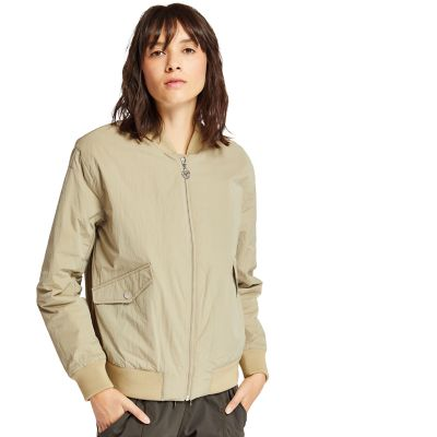 Hix+Mountain+Bomber+Jacket+for+Women+in+Beige