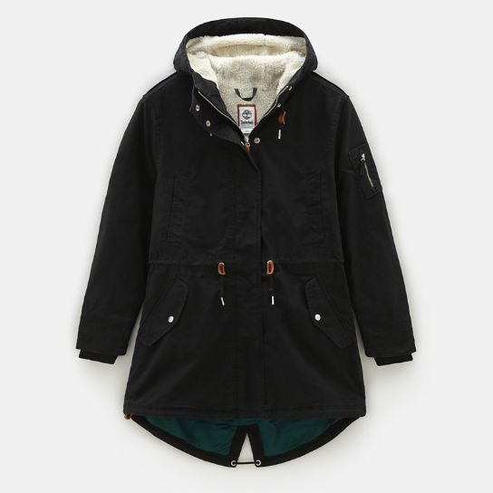 MT Kelsey Teddy Fleece Parka voor Dames in zwart | Timberland