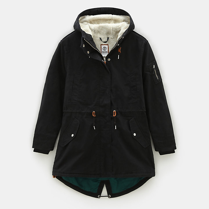 MT Kelsey Teddy Fleece Parka for Women in Black-