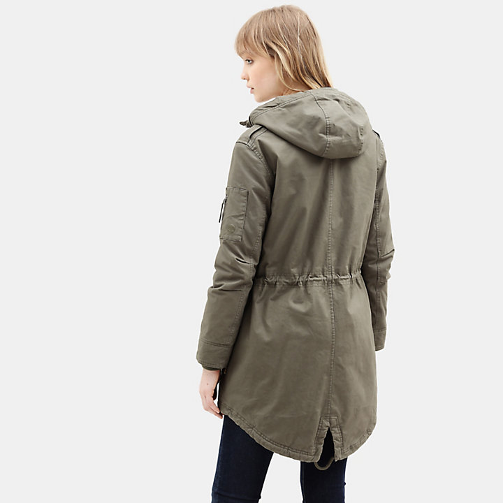 MT Kelsey Teddy Fleece Parka voor Dames in groen-