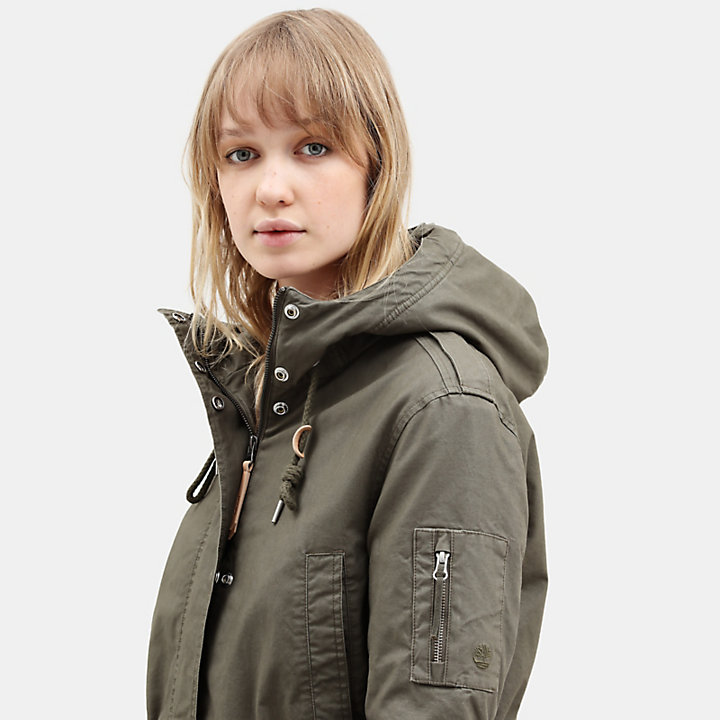 MT Kelsey Teddy Fleece Parka for Women in Green-