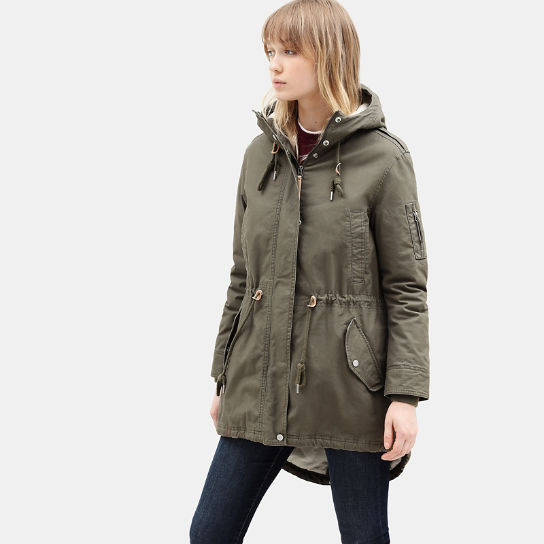 MT Kelsey Teddy Fleece Parka voor Dames in groen | Timberland