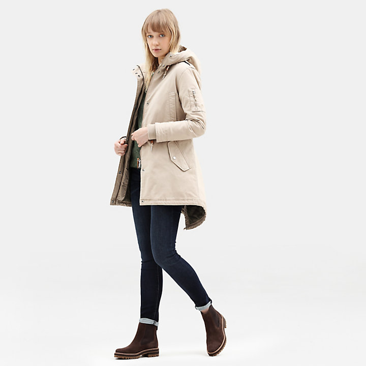 MT Kelsey Teddy Fleece Parka for Women in Taupe-