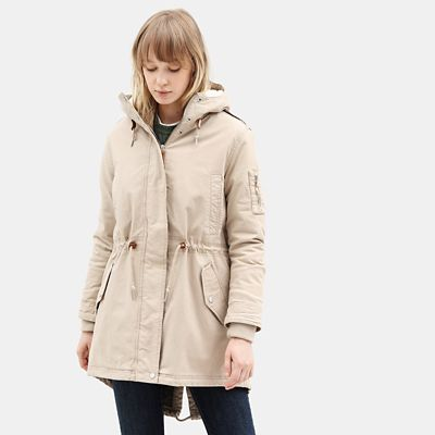 Parka+da+Donna+in+Pile+MT+Kelsey+in+grigio-marrone