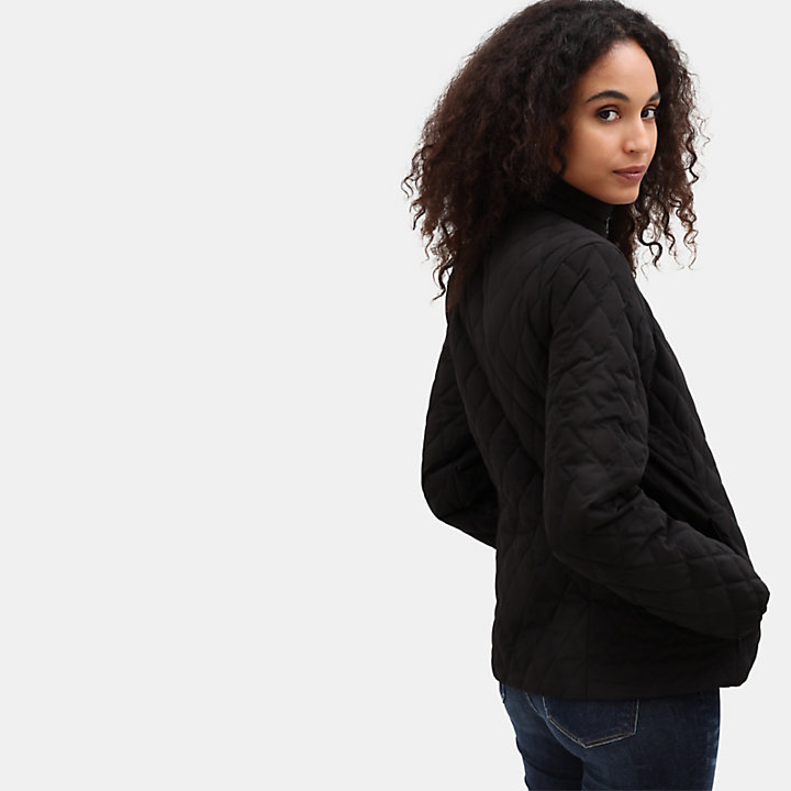 Piper Mountain Quilted Jacket for Women in Black-