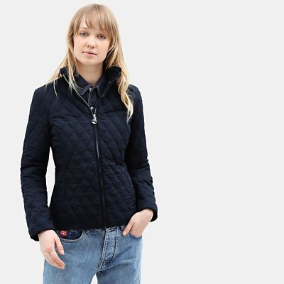 Piper+Mountain+Quilted+Jacket+voor+Dames+in+marineblauw