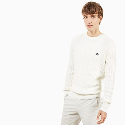 Williams+River+Cotton+Sweater+for+Men+in+White