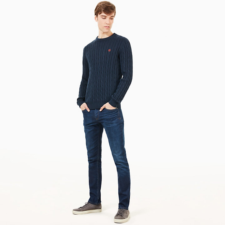 Williams River Cotton Pullover Herren in Navyblau-
