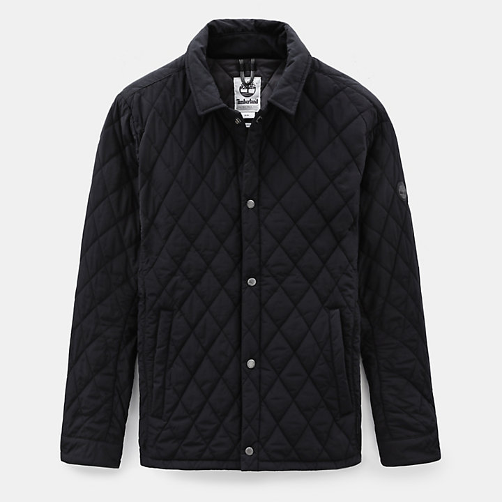 Mount Crawford Quilted Overshirt for Men in Black-