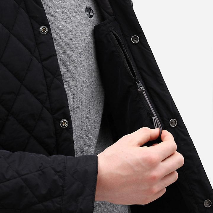 Camisa Grande Acolchada Mount Crawford para Hombre en color negro-