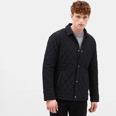 Mount+Crawford+Quilted+Overshirt+for+Men+in+Black