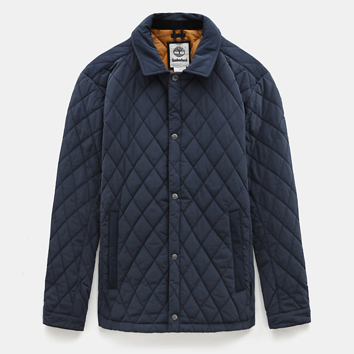 Mount Crawford Quilted Overshirt for Men in Navy-