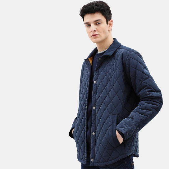 Mount Crawford Quilted Overshirt for Men in Navy | Timberland