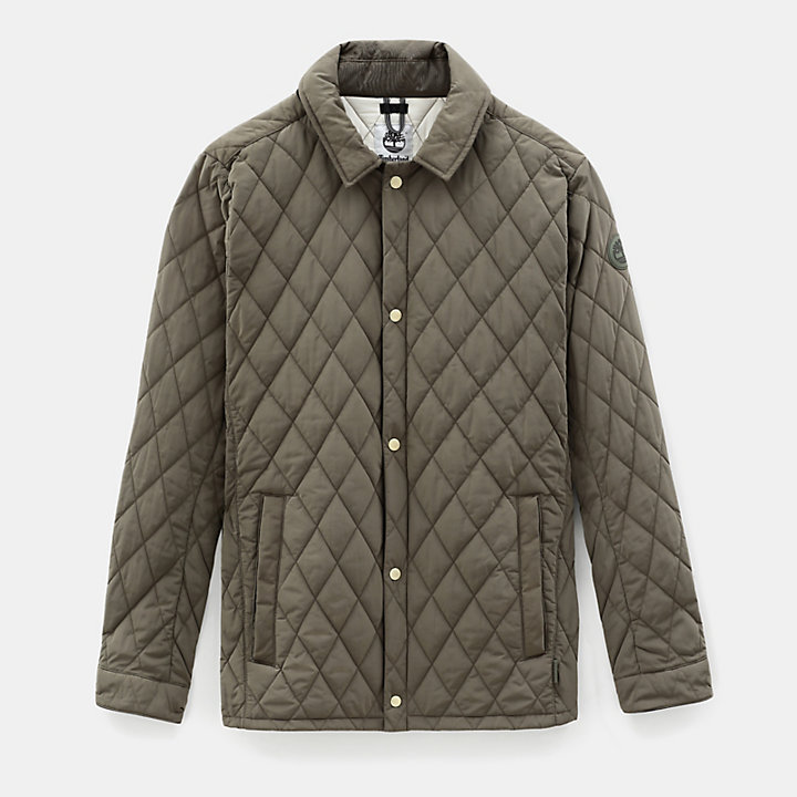 Mount Crawford Quilted Overshirt for Men in Green-