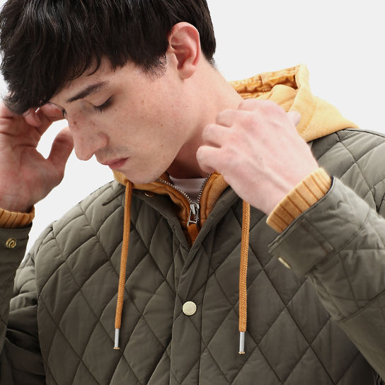 Mount Crawford Quilted Overshirt for Men in Green | Timberland