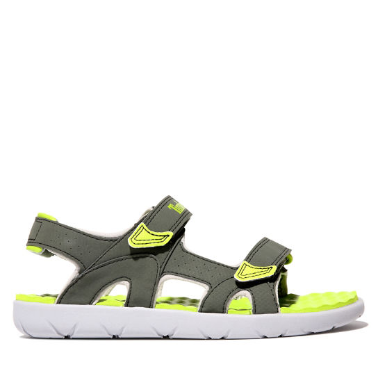 Perkins Row Sandal for Junior in Green | Timberland