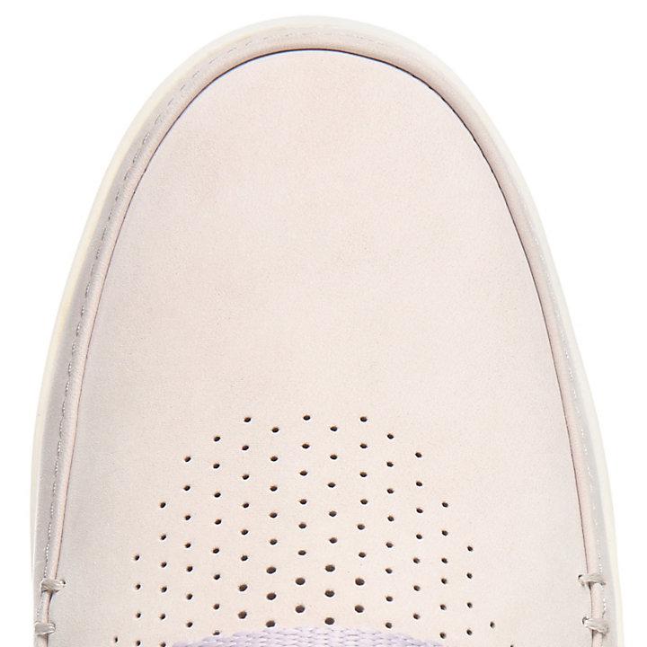 Chaussure bateau Project Better pour femme en mauve-