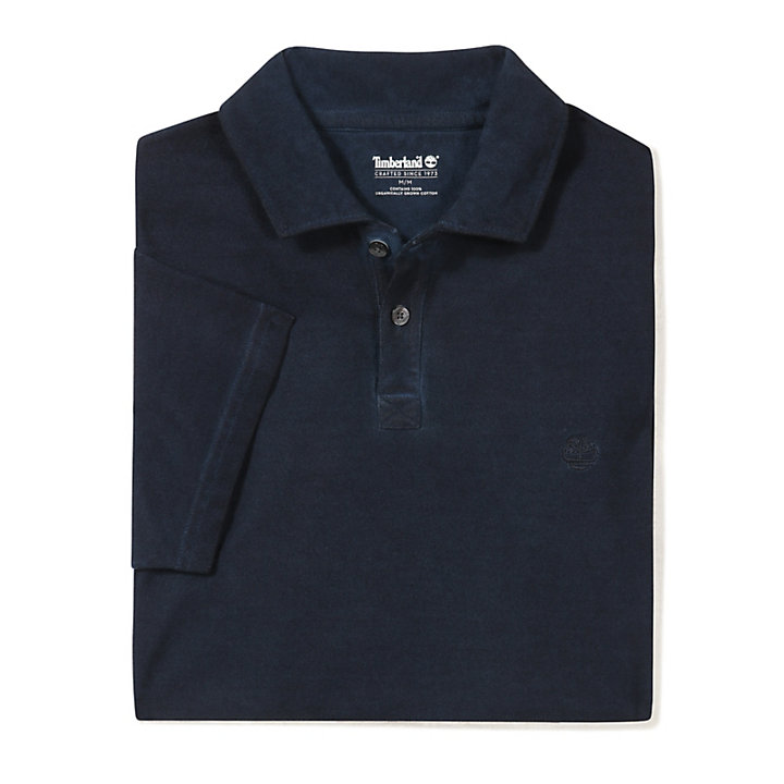 Heritage Polo Shirt for Men in Navy-