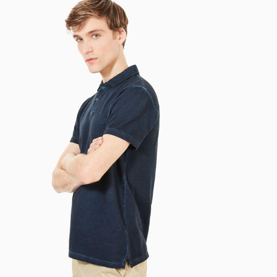 Heritage Polo Shirt for Men in Navy | Timberland