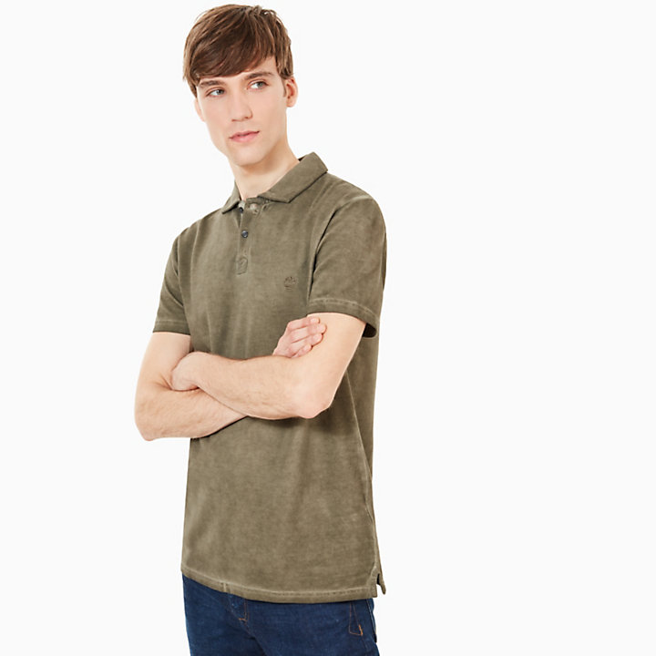 Heritage Polo Shirt for Men in Dark Green-