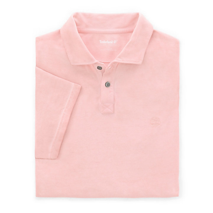 Heritage Polo Shirt for Men in Pink-
