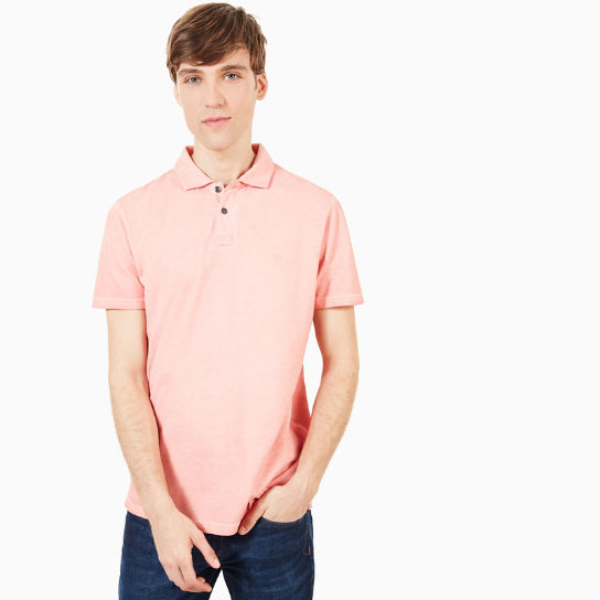 Heritage Polo Shirt for Men in Pink | Timberland