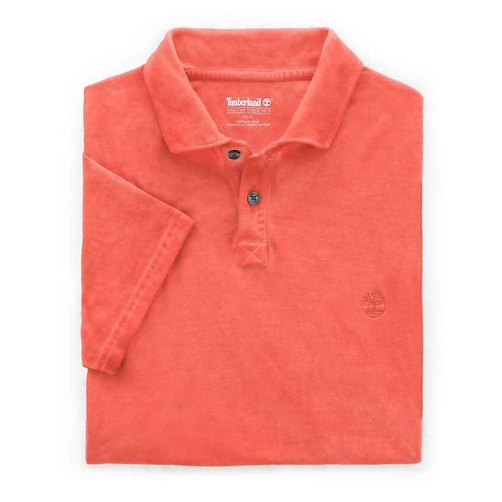 Heritage Polohemd für Herren in Orange-