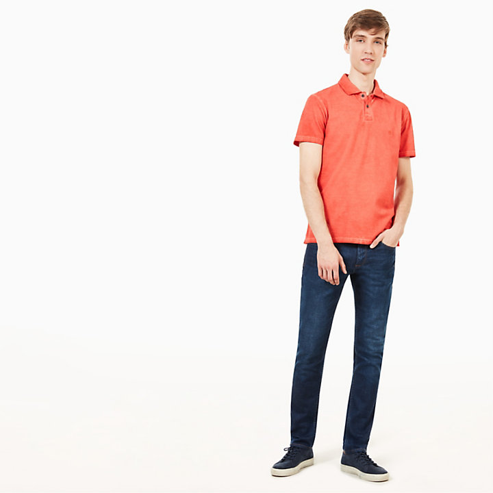 Polo Heritage pour homme en orange-