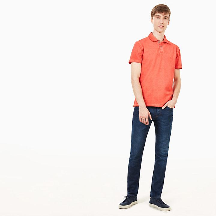 Heritage Polohemd für Herren in Orange-
