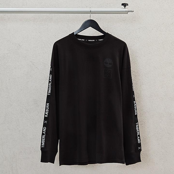 Camiseta de Manga Larga Timberland® x Raeburn para Hombre en Negro-