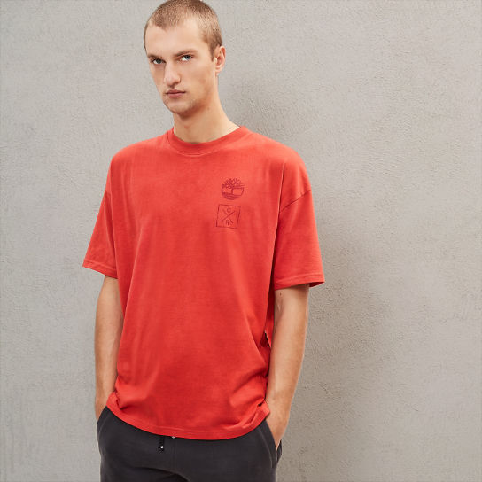 Timberland® x Raeburn T-Shirt for Men in Red | Timberland