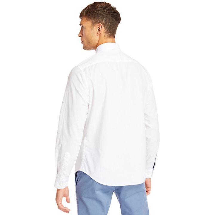 Camisa Elástica de Algodón Eastham River para Hombre en blanco-