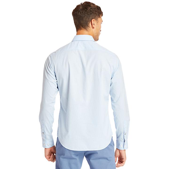 Camisa Elástica de Algodón Eastham River para Hombre en azul claro-