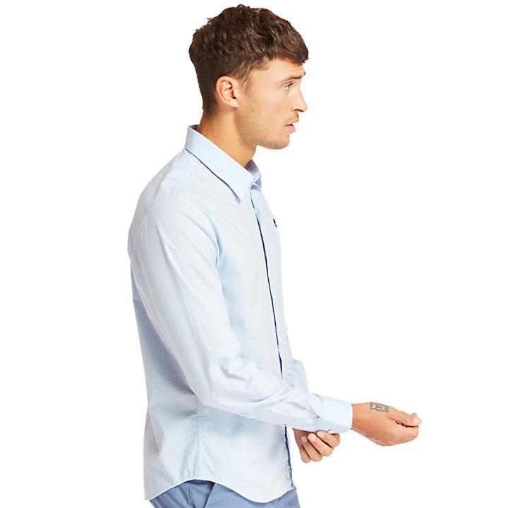 Chemise en coton Eastham River homme en bleu clair-
