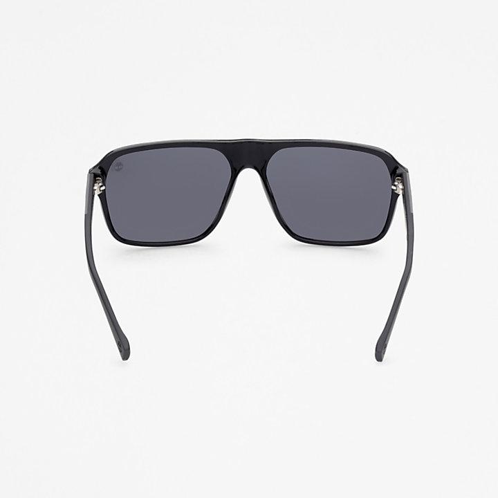 Timberland® Marcolin Modern Rectangular Sunglasses in Black-