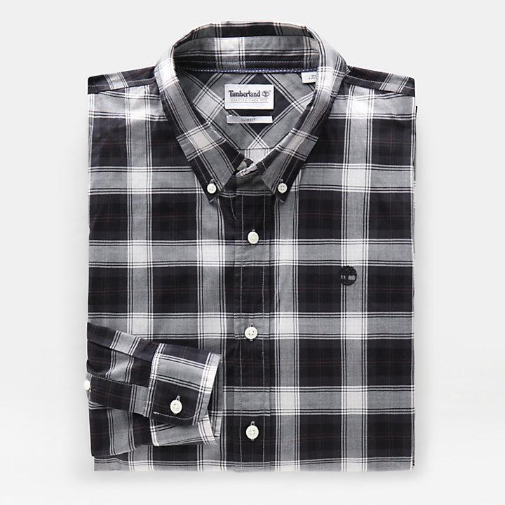 Chemise en tartan Eastham River pour homme en noir-