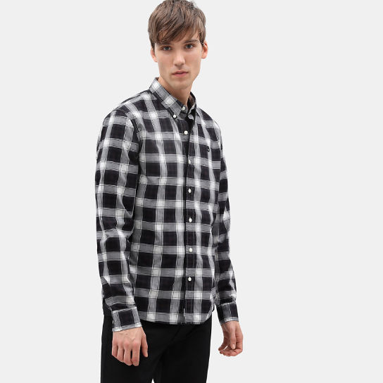 Camisa a Cuadros Escoceses Eastham River para Hombre en color negro | Timberland