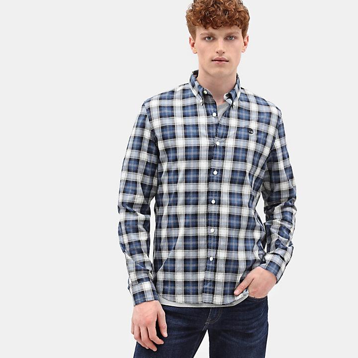 Eastham River Tartan Shirt for Men in Navy-
