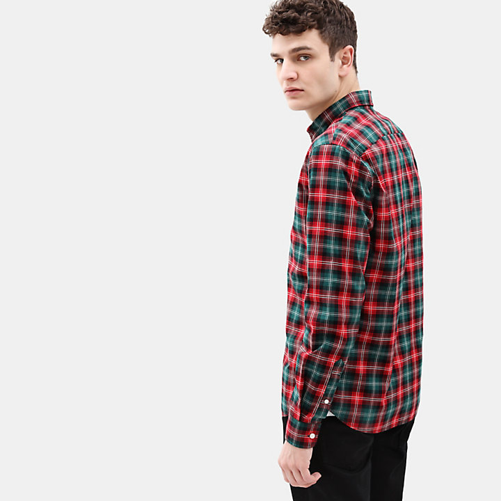 Eastham River Tartan Shirt for Men in Red-