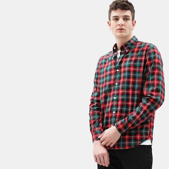 Eastham River Tartan Shirt for Men in Red | Timberland