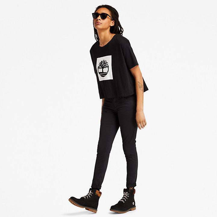 Timberland® Marcolin runde Sonnenbrille in Schwarz-