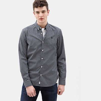 Suncook+River+Gingham%C2%A0Shirt+for+Men+in+Indigo