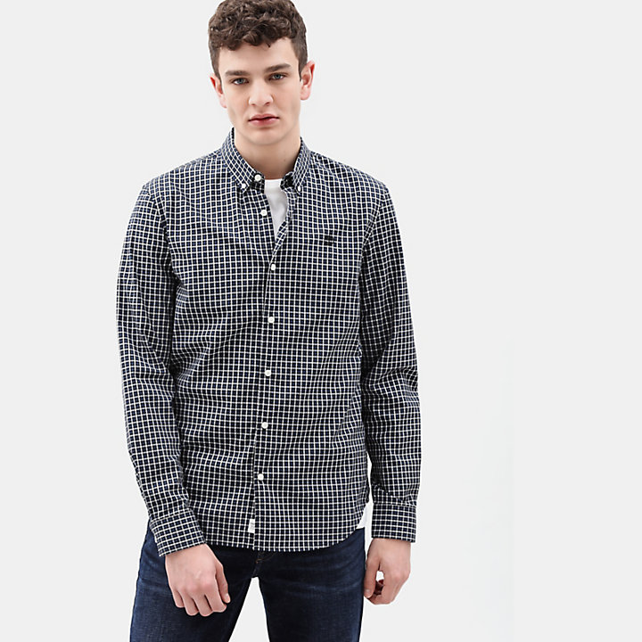 Suncook River Gingham Hemd für Herren in Indigo-