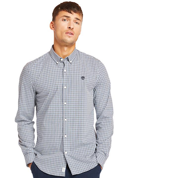 Camicia da Uomo a Quadretti Suncook River in blu-