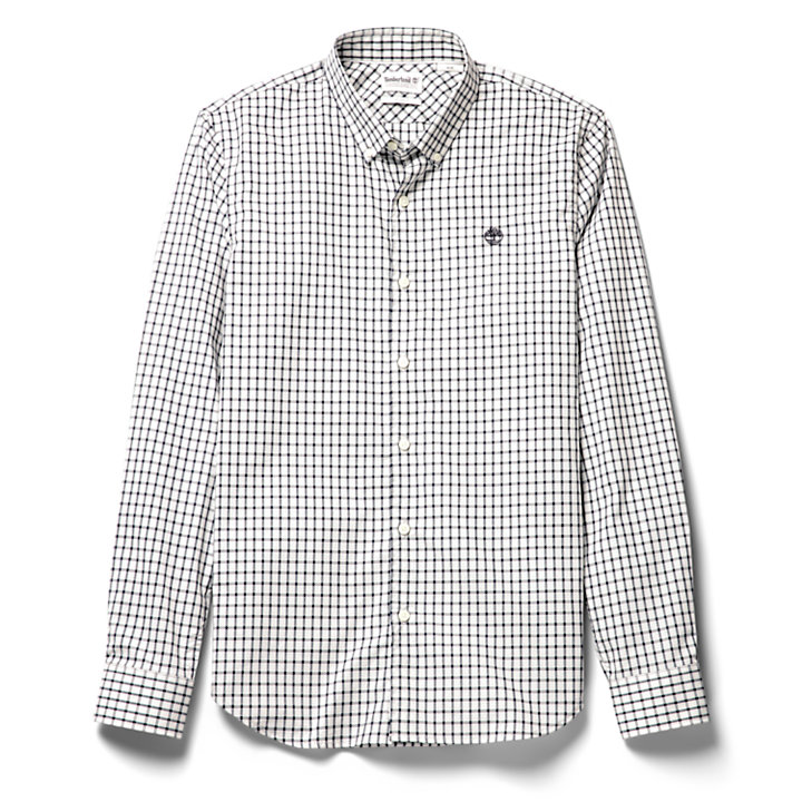 Suncook River Gingham Shirt for Men in Grey-