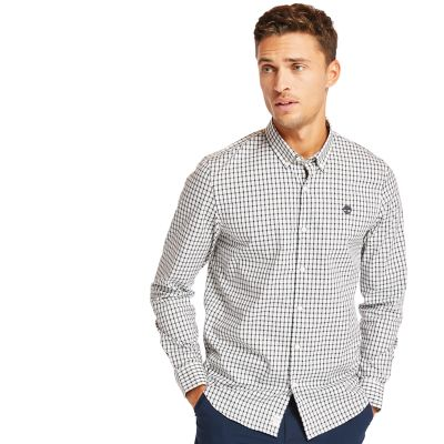 Suncook+River+Gingham+Shirt+for+Men+in+Grey