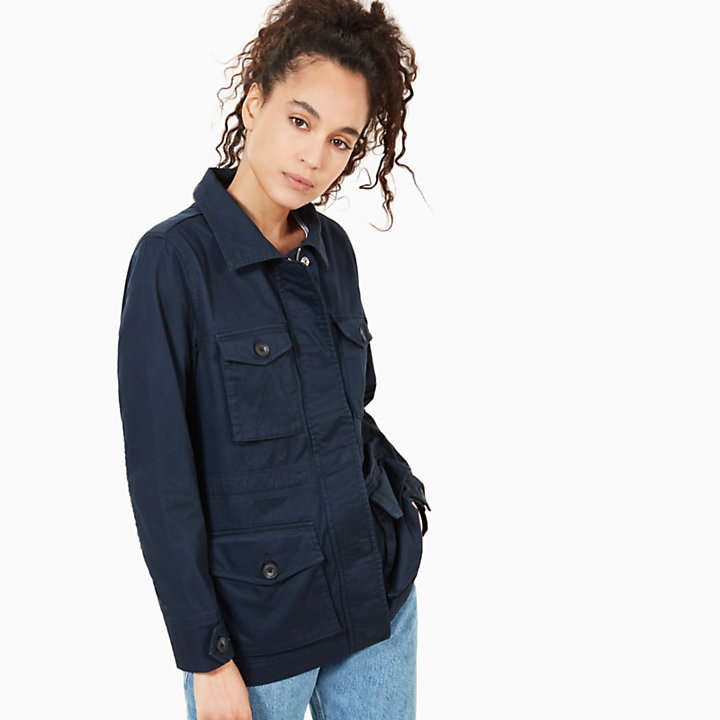 Field Jacket for Women in Navy-