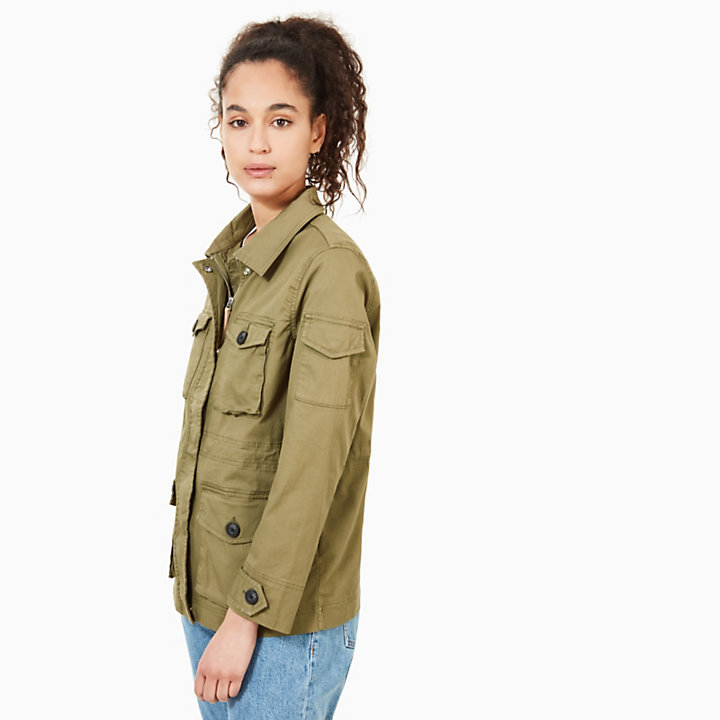 Field Jacket for Women in Green-