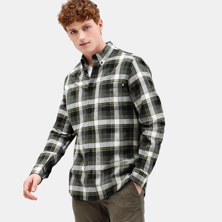 Timberland Back River Tartan Shirt For Men In Green Green, Size S